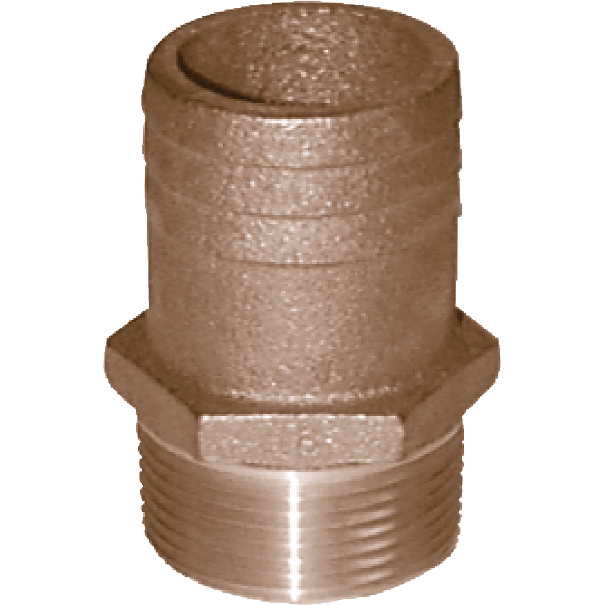 Groco FF Bronze Full Flow Pipe-to-Hose Adapter with NPT Thread