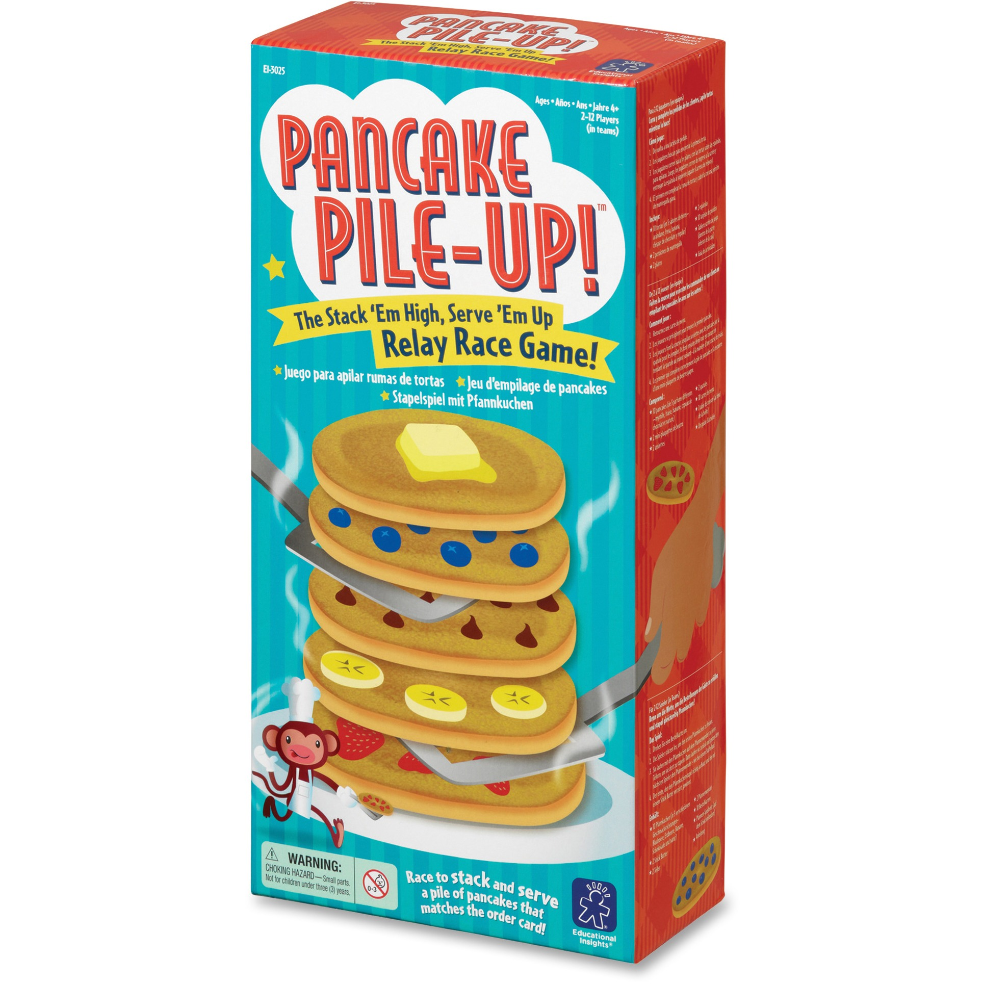 Educational Insights Pancake Pile-Up Relay Race Game, Assorted