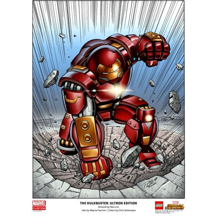 LEGO Marvel Super Heroes The Hulkbuster: Ultron Edition Poster [Color] - Lego Decor