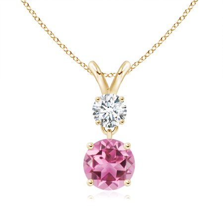 low priced where to buy store Angara - October Birthstone Pendant Necklaces - Two Stone Round ...