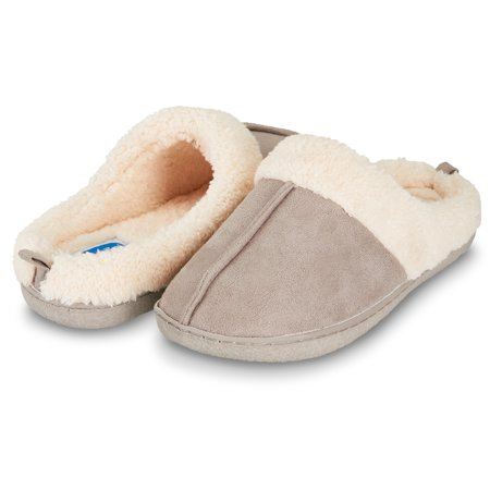 929a5a0ad4d Floopi Womens Indoor Outdoor Fur Lined Clog Slipper W Memory Foam (L