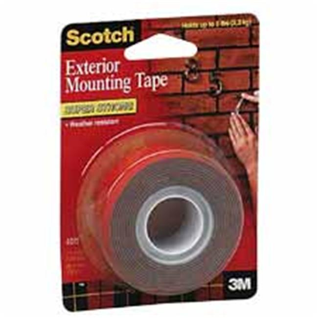 3M MMM4011 Heavy-Duty Exterior Mounting Tape- Holds 5 lb. - 1inchx60inch