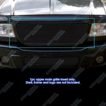 Fits 2001-2003 Ford Ranger Edge/XLT 4WD Black Billet Grille Insert Open Top Only