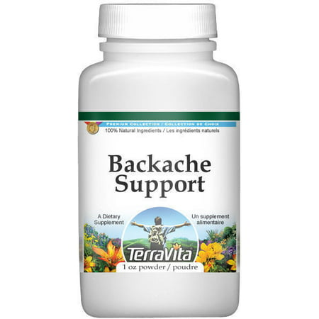 Backache Support Powder - Devil's Claw, Horsetail, White Willow and More (1 oz, ZIN: 517130)