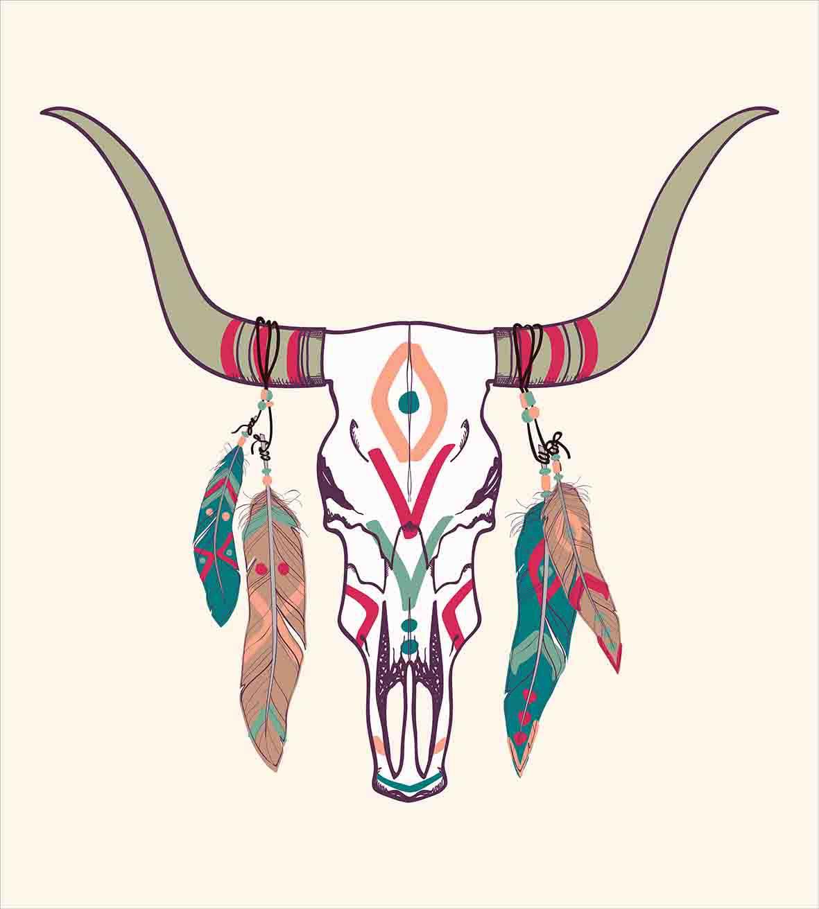 Deer Skull Tattoo Longhorn Flower Drawings Wwwgalleryneedcom