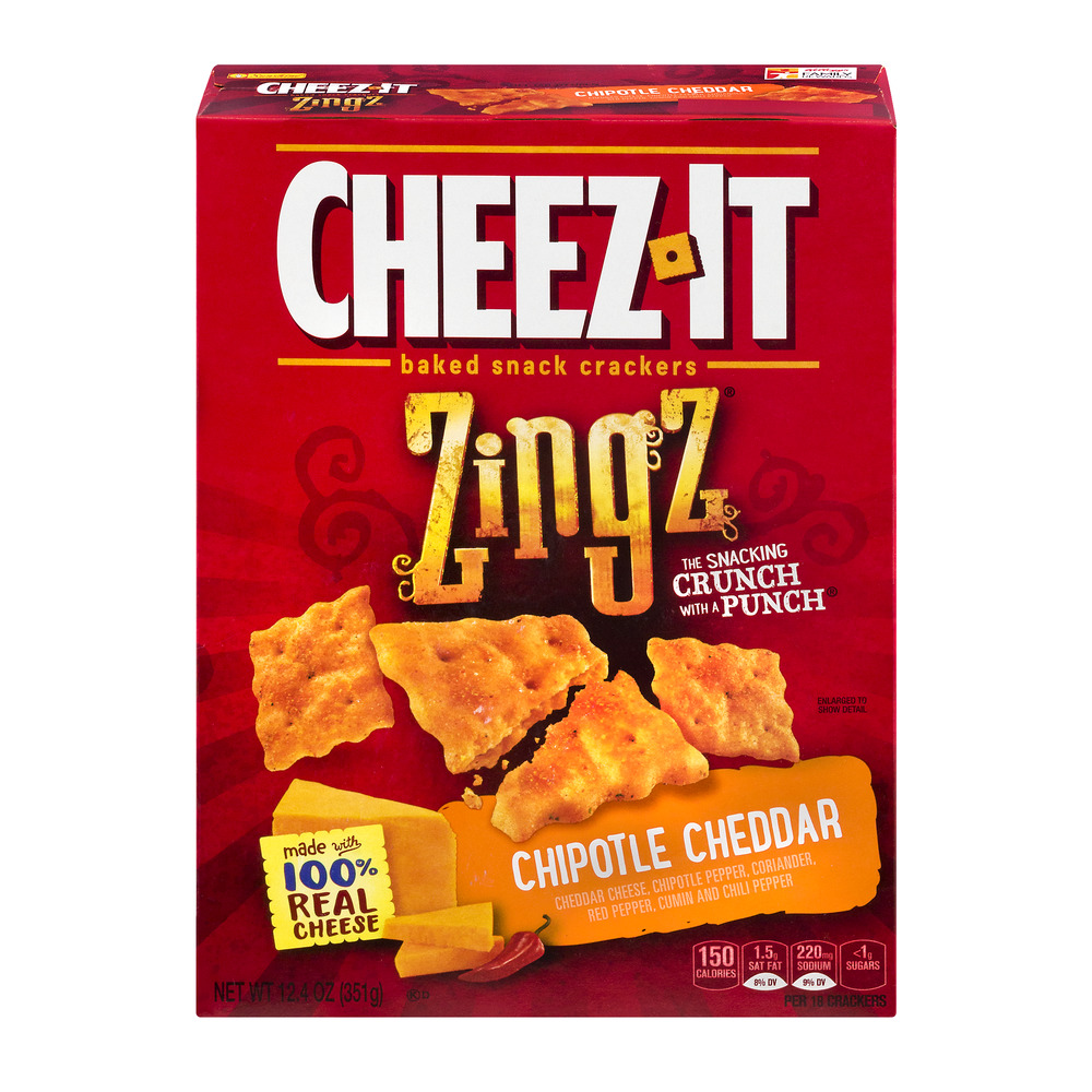 cheezit baked snack crackers zingz chipotle cheddar 124