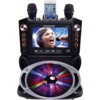 "Karaoke USA DVD/CDG/MP3G Karaoke Machine with 7"" TFT Color Screen, Record, Bluetooth and LED Sync Lights, GF846"