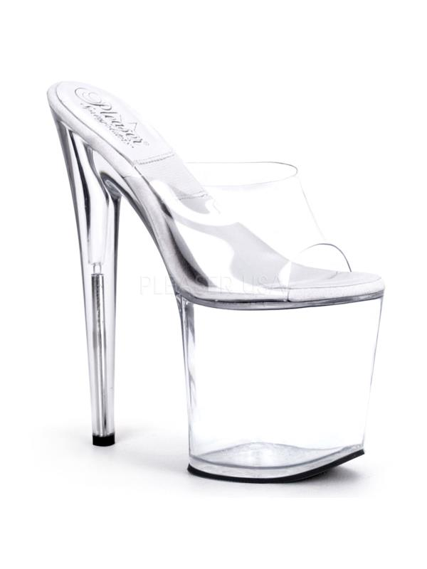 SOL801-O/C/M Pleaser Platforms Exotic Dancing Specialty Shoes CLEAR Size:11