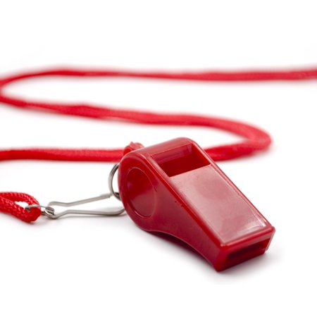GOGO 100 Pcs Whistles With Lanyard Classic Sporting Coach Whistle For Wholesale-Red](Coach Whistles)