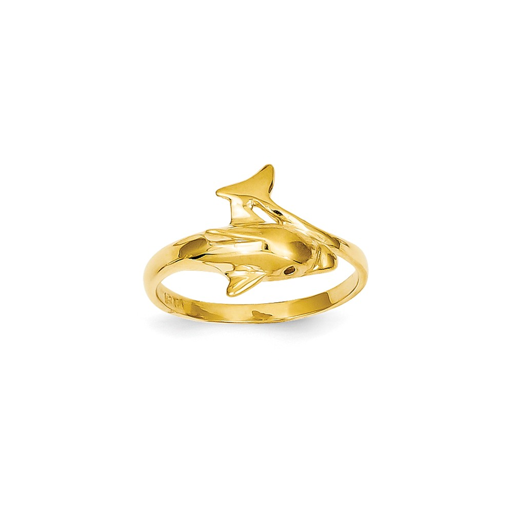14k yellow gold dolphin ring walmart