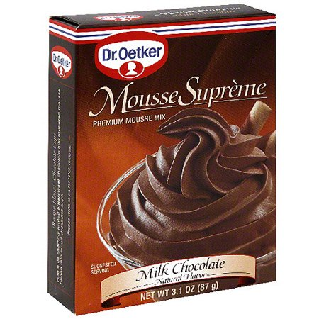 Dr. Oetker Milk Chocolate Mousse Mix, 3.1 oz (Pack of 12) - White Chocolate Mousse Recipe