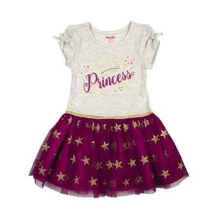 Nannette Short Sleeve Tutu Dress (Toddler Girls)