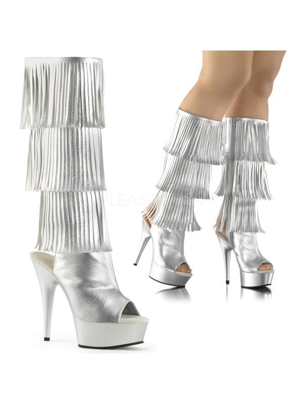 DEL2019-3/SPU/M Pleaser Platforms Exotic Dancing Knee High Boots Size: 9