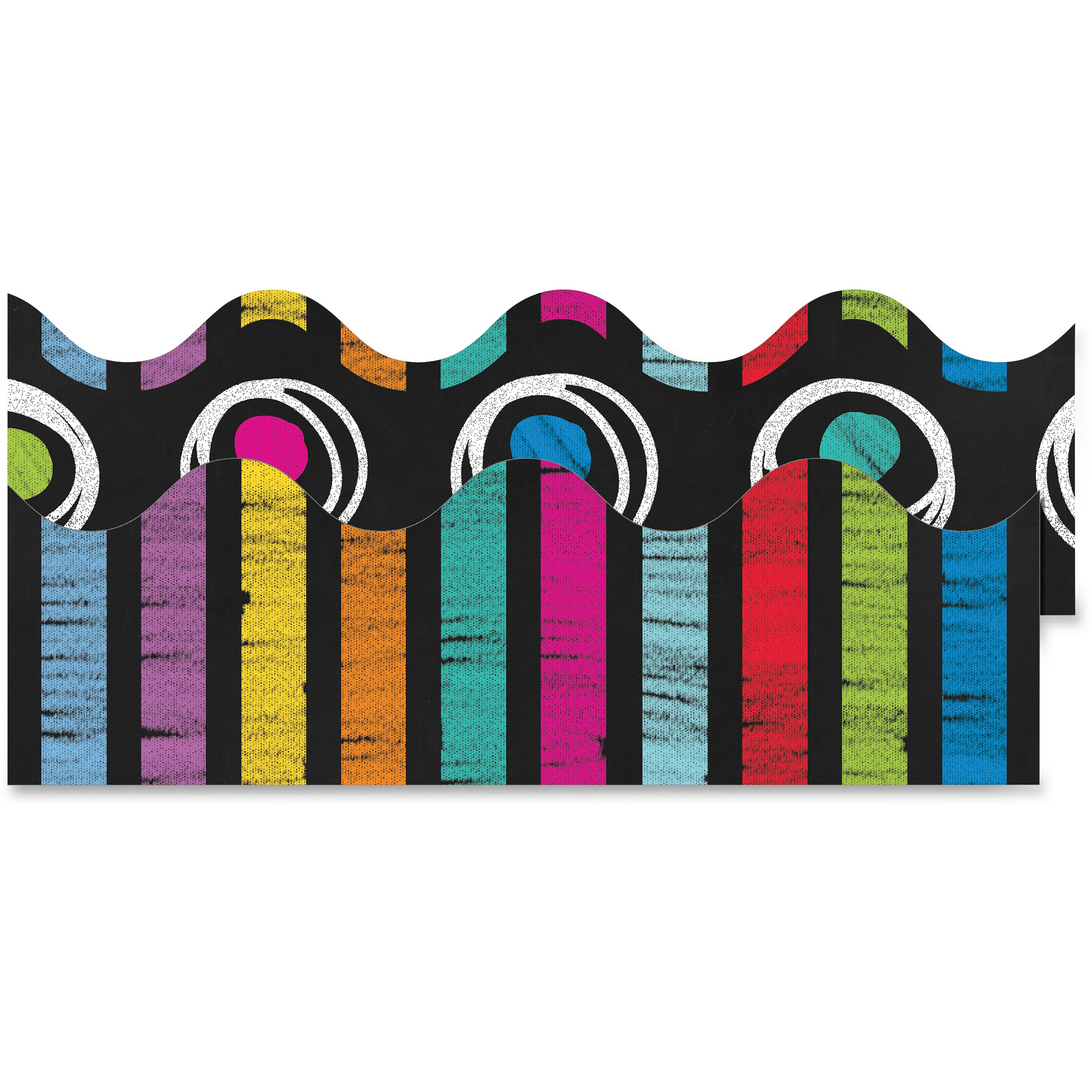 Carson-Dellosa Colorful Chalkboard Scalloped Borders, Pack of 13