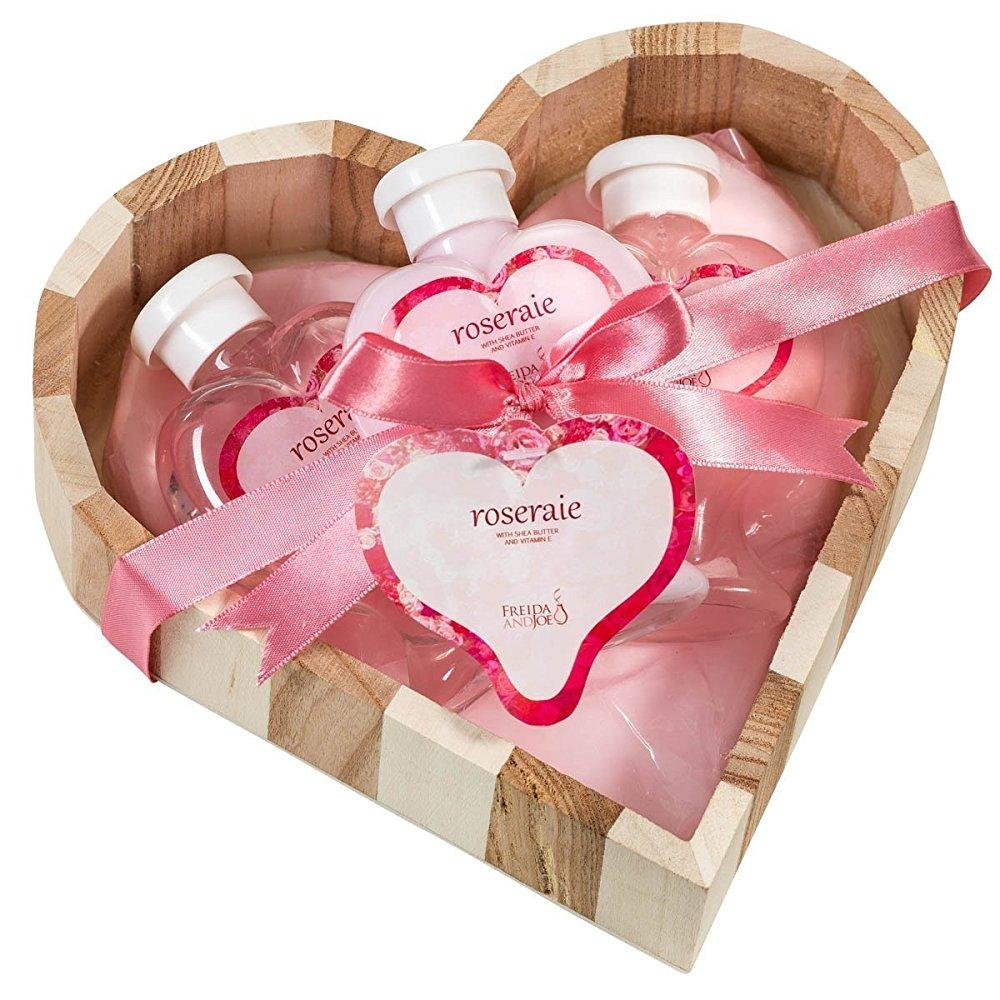 pink rose bath and body gift basket,shower gel ,bubble bath,body ...