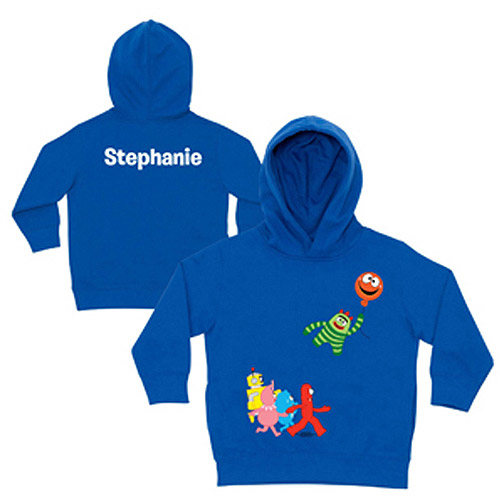 Personalized Yo Gabba Gabba! Balloon Getaway Royal Blue Toddler Boys' Hoodie