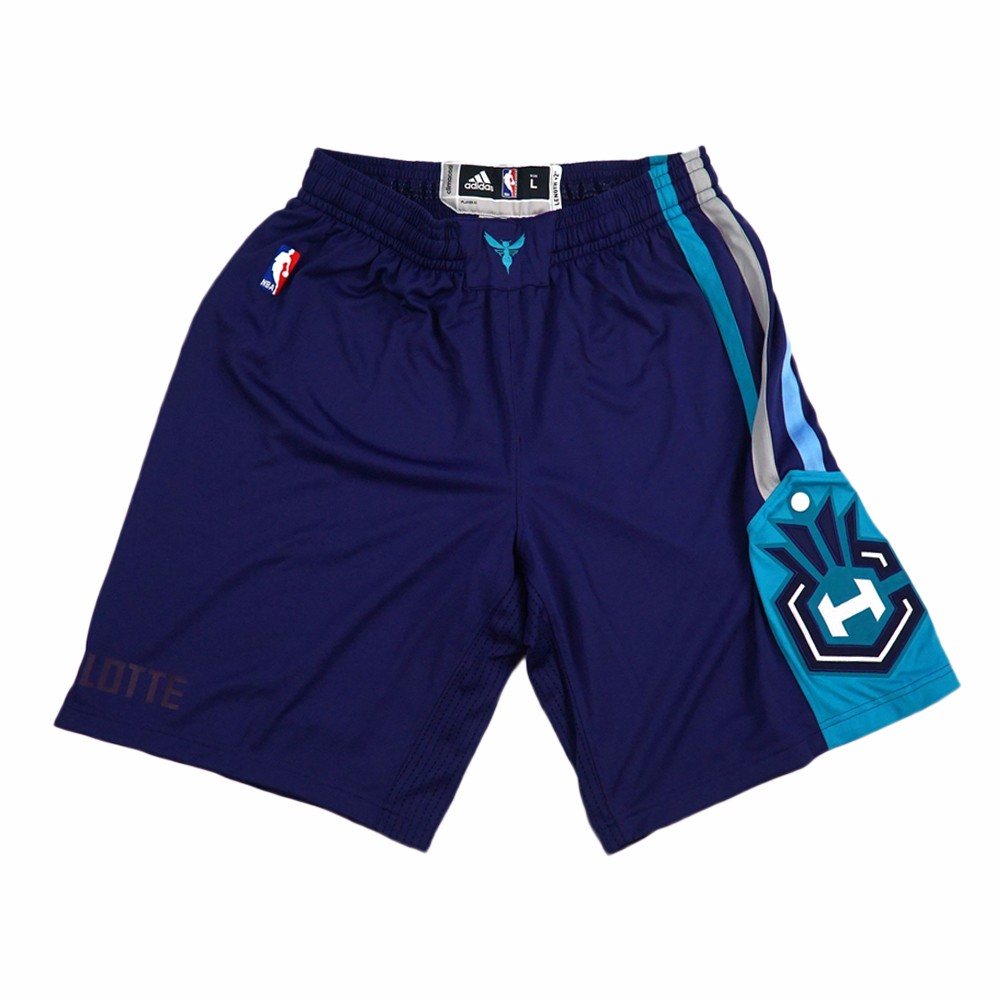 Charlotte Hornets NBA Adidas Purple Authentic On-Court Team Issued Pro Cut Game Shorts Shorts For Men
