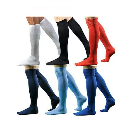 Girl12Queen - Men Fashion Sport Football Baseball Hockey Soccer Long Socks Over Knee High Socks - Walmart.com