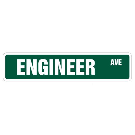 ENGINEER Street Sign civil chemical engineering electrical degree | Indoor/Outdoor |  18