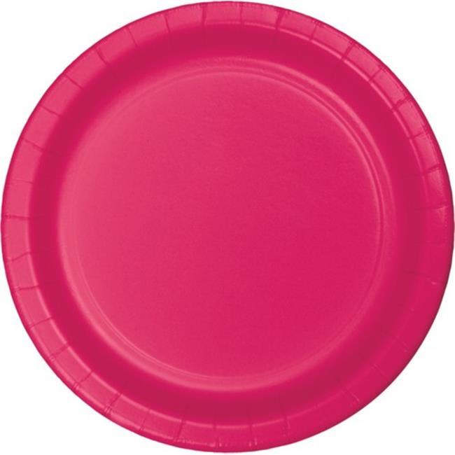 Hoffmaster Group 553277 9 in. Dinner Plate, Hot Magenta - 8 per Case - Case of 12