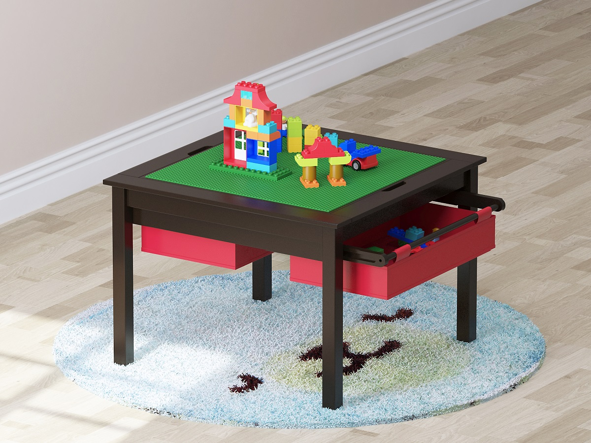 Play Table With Storage Drawers