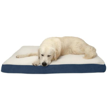 Furhaven Pet Dog Mattress Deluxe Orthopedic Sherpa Pet Bed