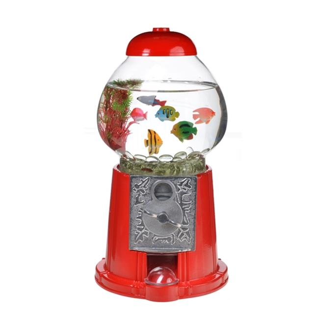 American Gumball Machine 14847-0028 Limited Edition Old Classic 15 in Red Aquarium