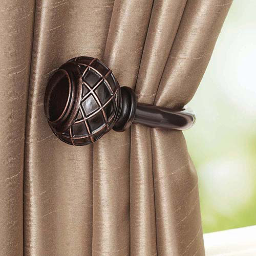pewter curtain rod
