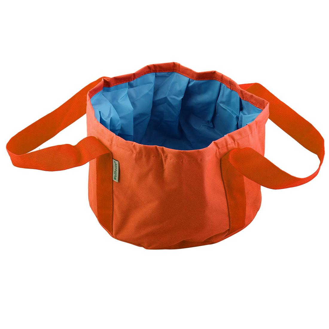 Wellhouse Authorized Folded Washbasin Washbowl Camping Bucket Orange L