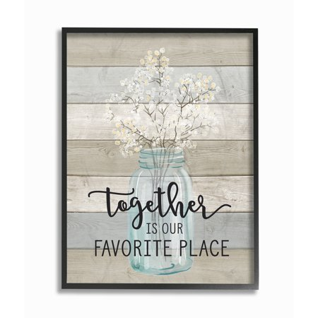 The Stupell Home Decor Collection Together is Our Favorite Place Oversized Framed Giclee Texturized Art, 16 x 1.5 x 20 - Framed Giclee Art