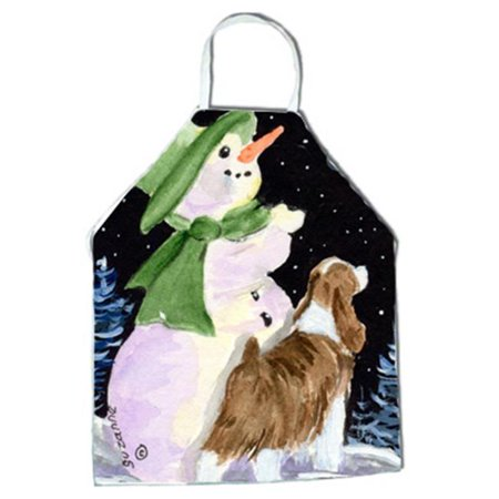 Snowman with English Springer Spaniel Apron - 27 x 31