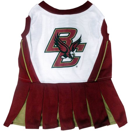 Pets First College Boston College Eagles Cheerleader, 3 Sizes Pet Dress Available. Licensed Dog -