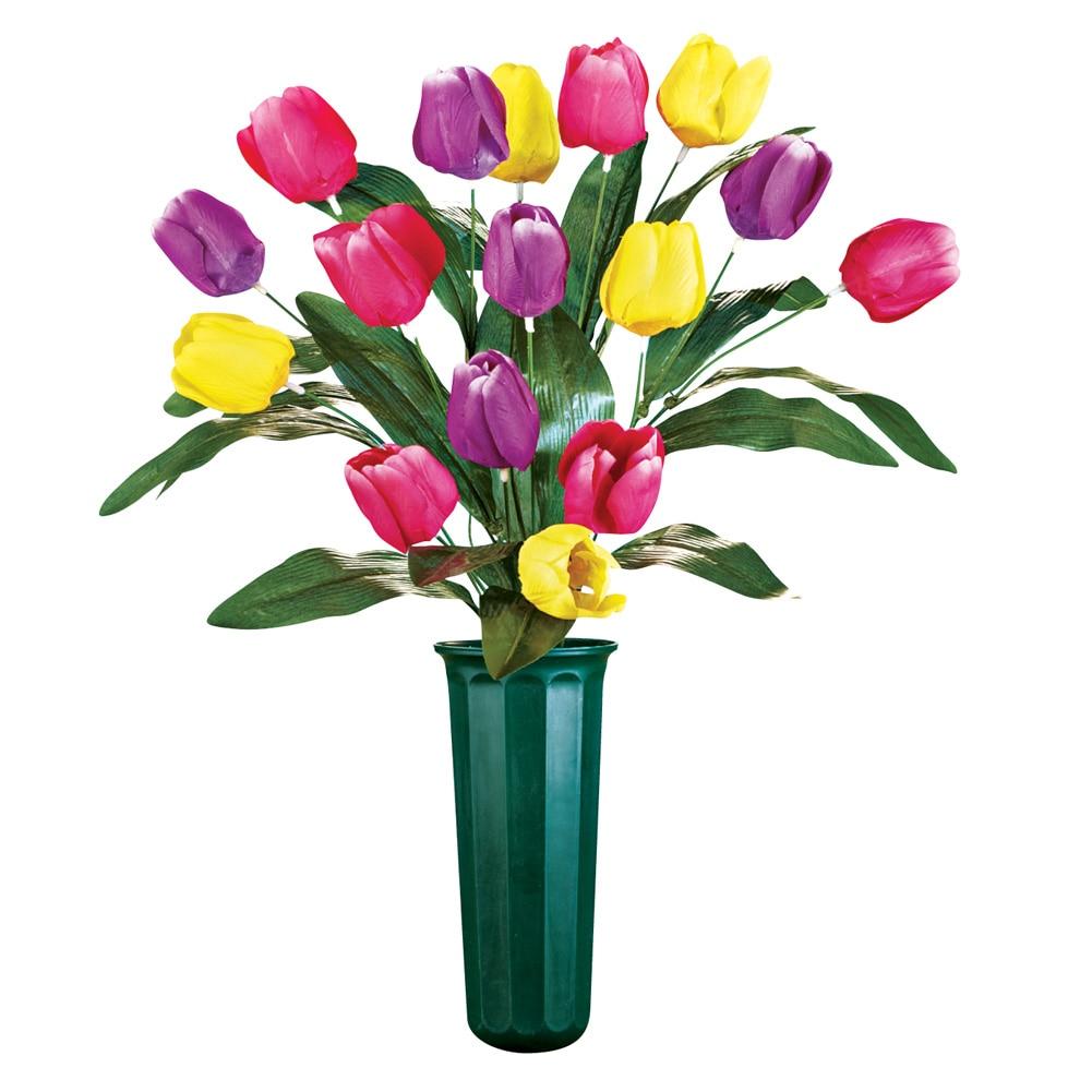 Tulip flowers bouquet cemetery grave in memorial flower vase large tulip flowers bouquet cemetery grave in memorial flower vase large multi walmart izmirmasajfo