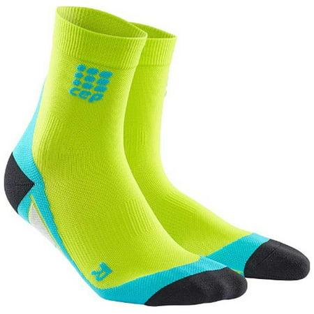 CEP Men's Dynamic+ Short Compression Socks (Lime,