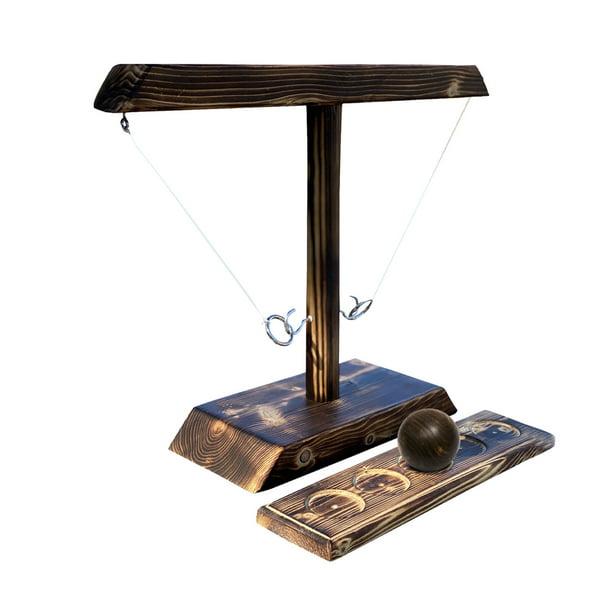 Ring Toss with Shot Ladder Bundle Game Handmade Outdoor Indoor Handmade Wooden