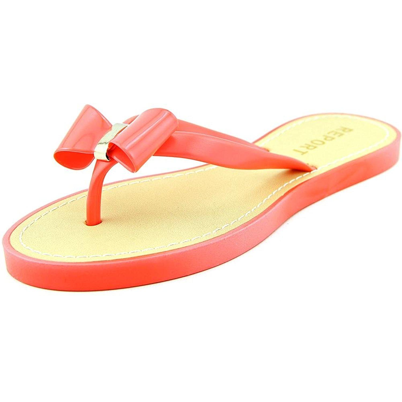 Report Womens JENSKI Rubber Split Toe Casual Slide Sandals