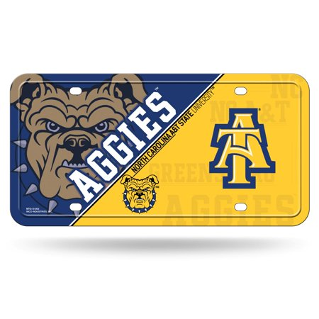 North Carolina A&T Aggies NCAA 12x6 Auto Metal License Plate Tag CAR TRUCK