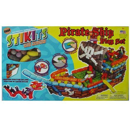 Stikits 600 Piece Pirate Ship Play Set