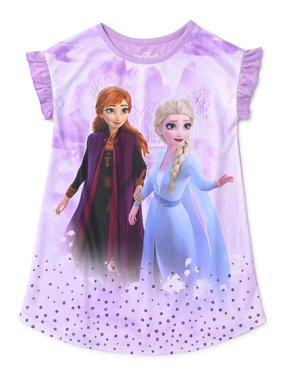 Frozen 2 Toddler Girls Short Sleeve Nightgown Pajamas