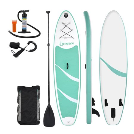 Surf Bolt (Top Knobs Inflatable Stand Up Paddle Board (6 Inches Thick) with SUP Accessories & Carry Bag, Wide Stance, Bottom Fin for Paddling, Surf Control, Non-Slip Deck, Youth & Adult Standing)