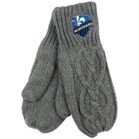 Montreal Impact ZooZatz Women's Cable Knit Mittens - Charcoal