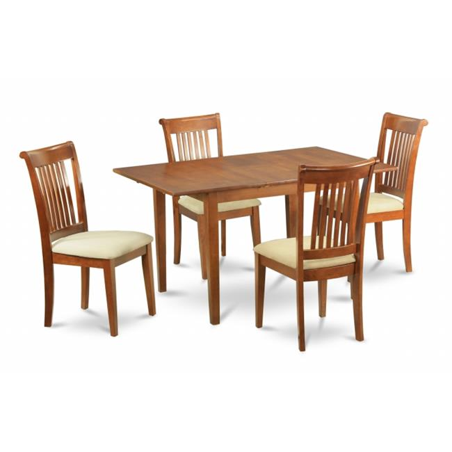 MLPO7-SBR-C 7 Piece dinette set for small spaces-kitchen table and 6 Dining Chairs