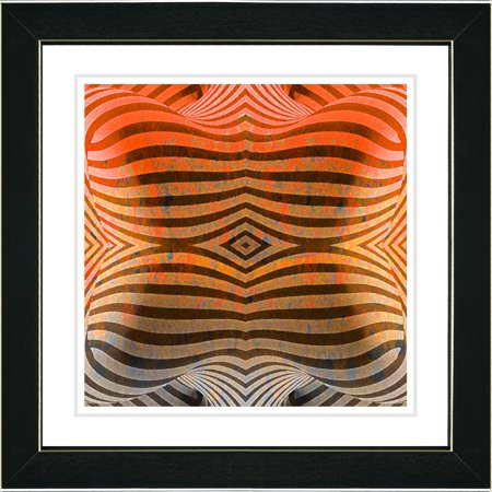 Studio Works Modern  Rio Bio Bio   Orange Framed Art Print