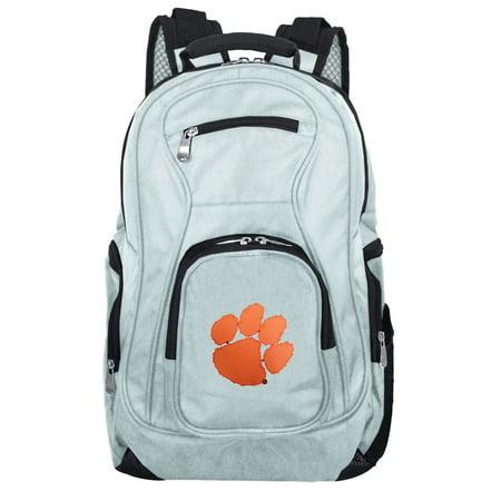NCAA Clemson Tigers Gray Premium Laptop Backpack