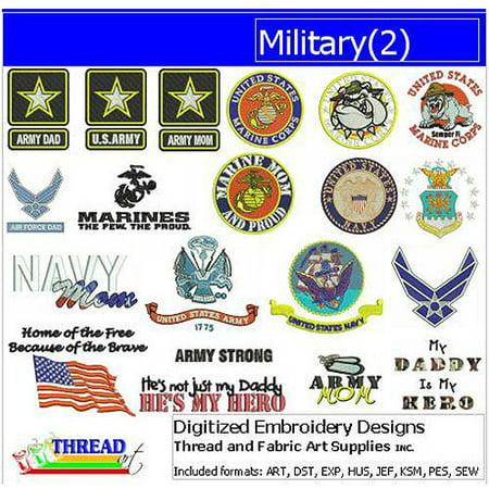 ThreadArt Machine Embroidery Designs Military(2) CD Mastering Machine Applique