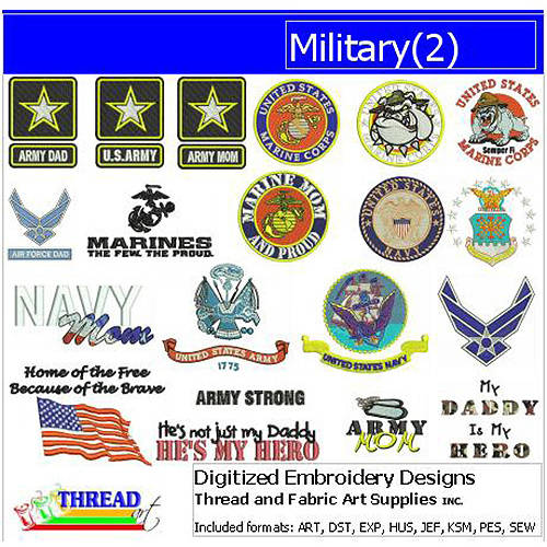 ThreadArt Machine Embroidery Designs Military(2) CD