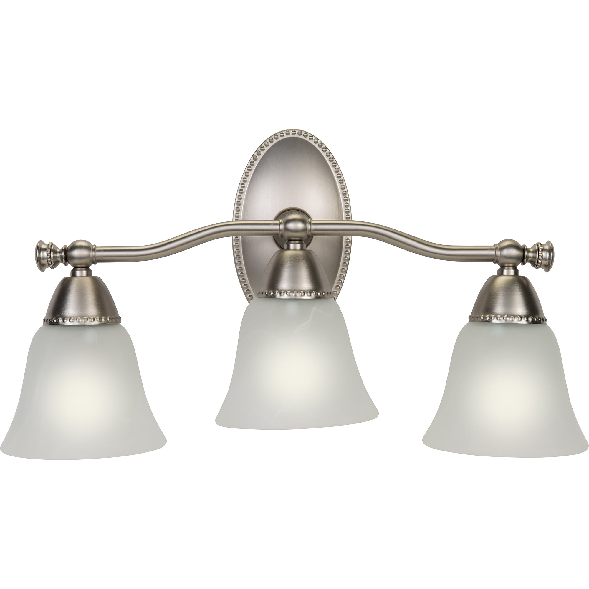 Bathroom vanity and mirror antique ceiling light fixtures bathroom - Better Homes And Gardens Beaded Triple Bathroom Vanity Light Satin Nickel