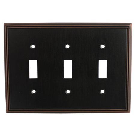 Cosmas 65005 Oil Rubbed Bronze Triple Toggle Switchplate Cover