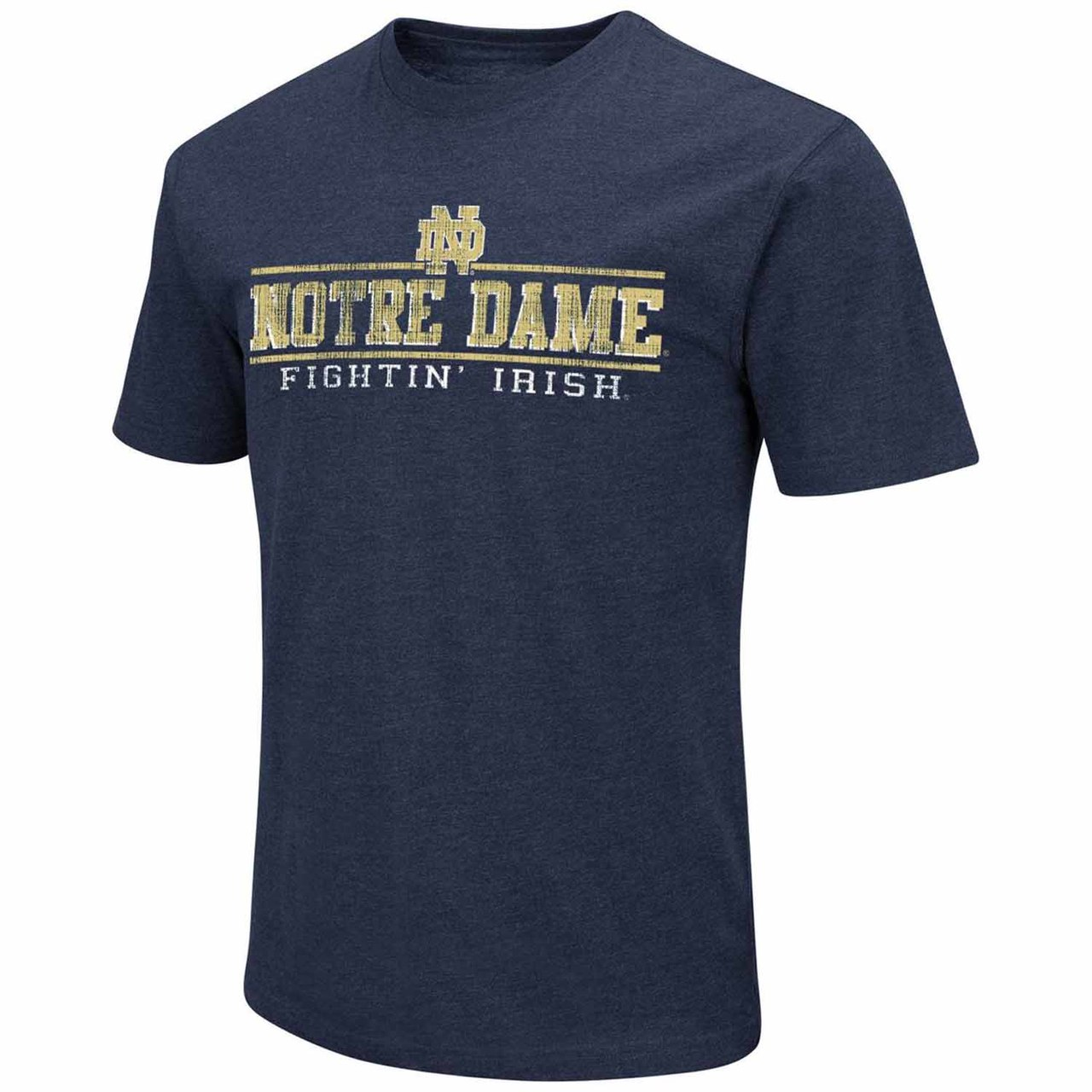 Notre Dame Fighting Irish Adult Soft Vintage Tailgate T-Shirt - Navy