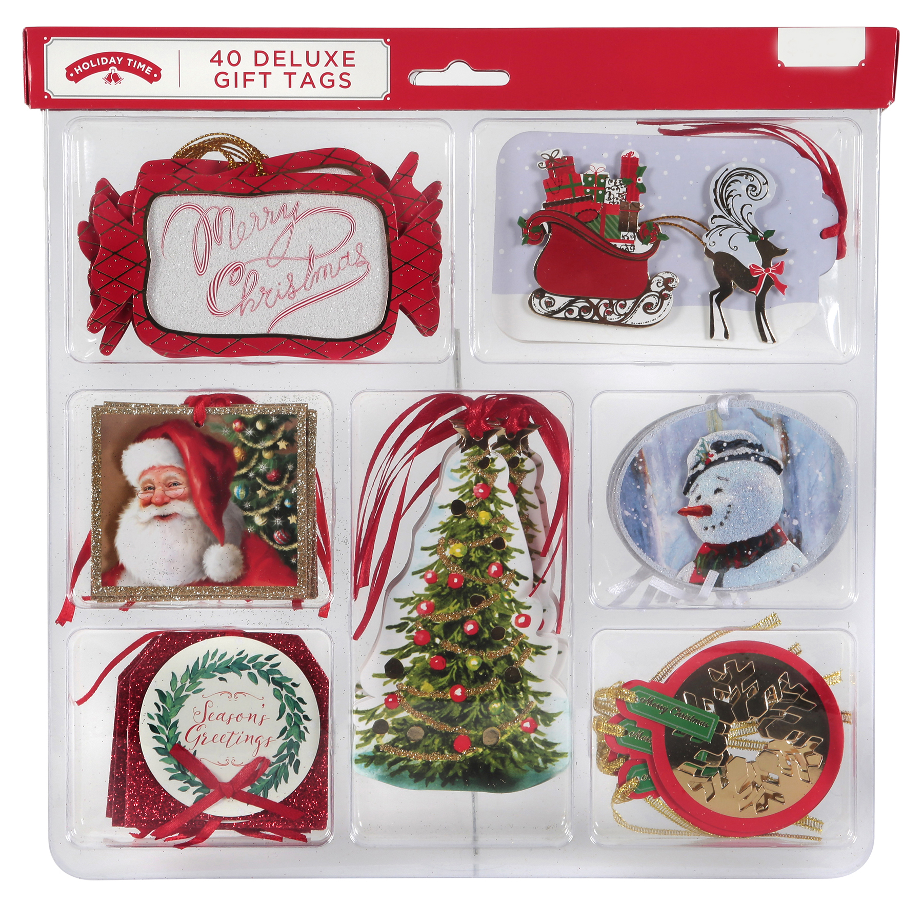 Holiday Time 40ct DeluxeTraditional Tags
